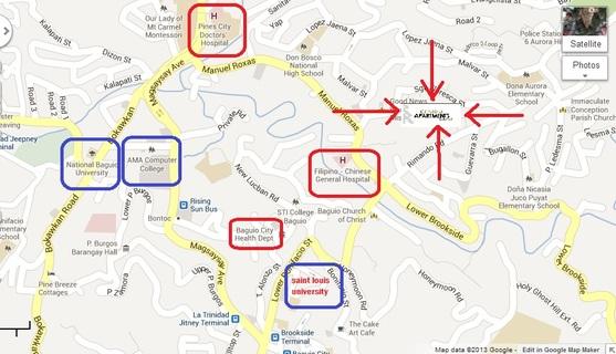 The Central Apartment Condominium In Baguio City For Sale - Baguio map