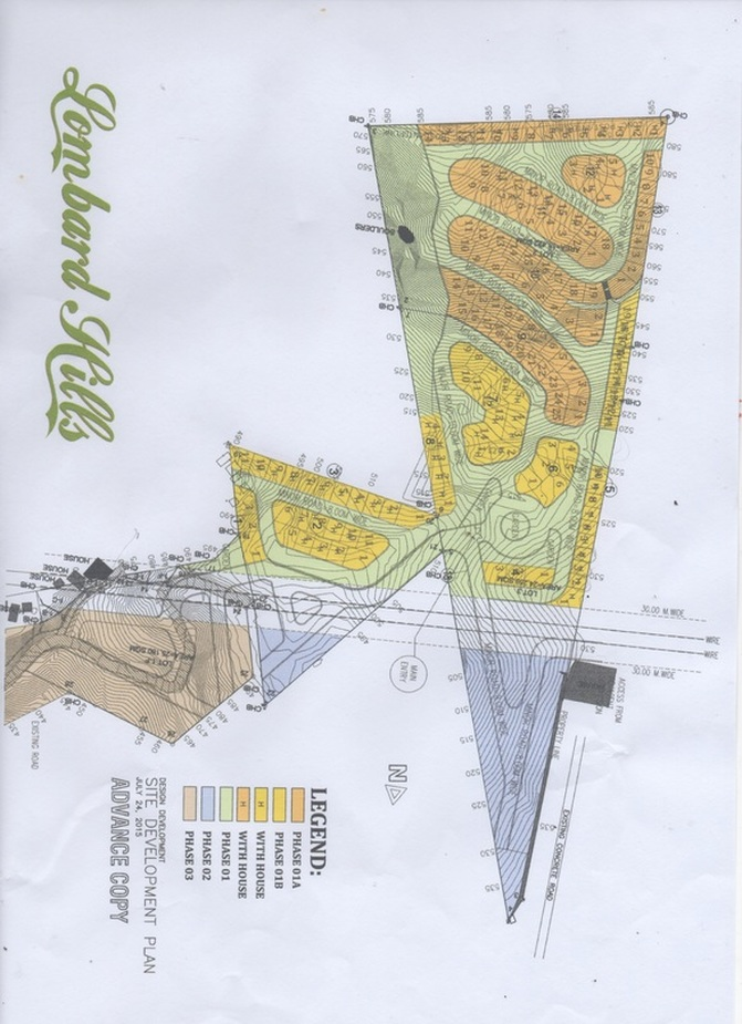 site development plan of the Subdivision