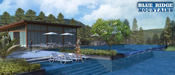 swimming pool in house and lot subdivision in baguio city for sale