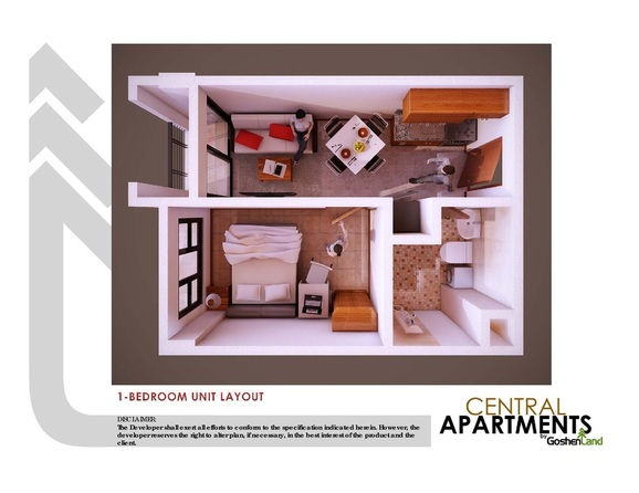 condominium unit layout of the central apartment in trancoville Baguio city