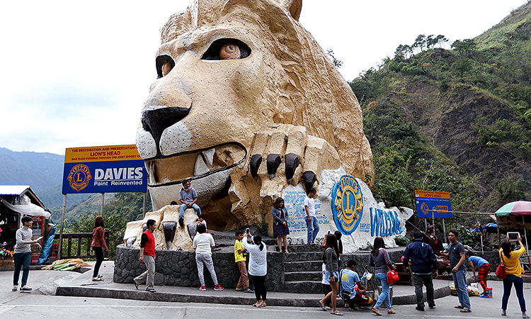baguio city lions head
