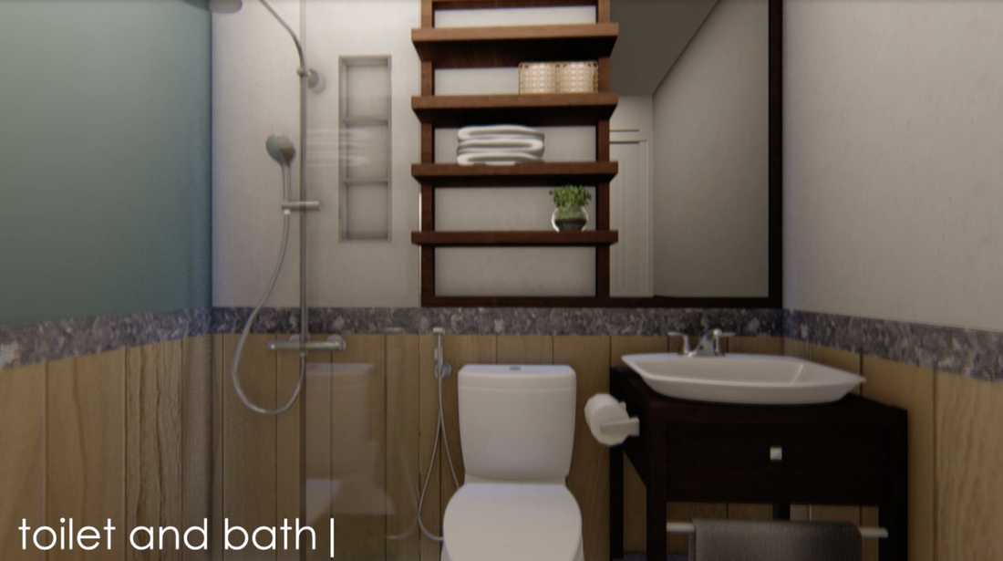 toilet and bath duplex